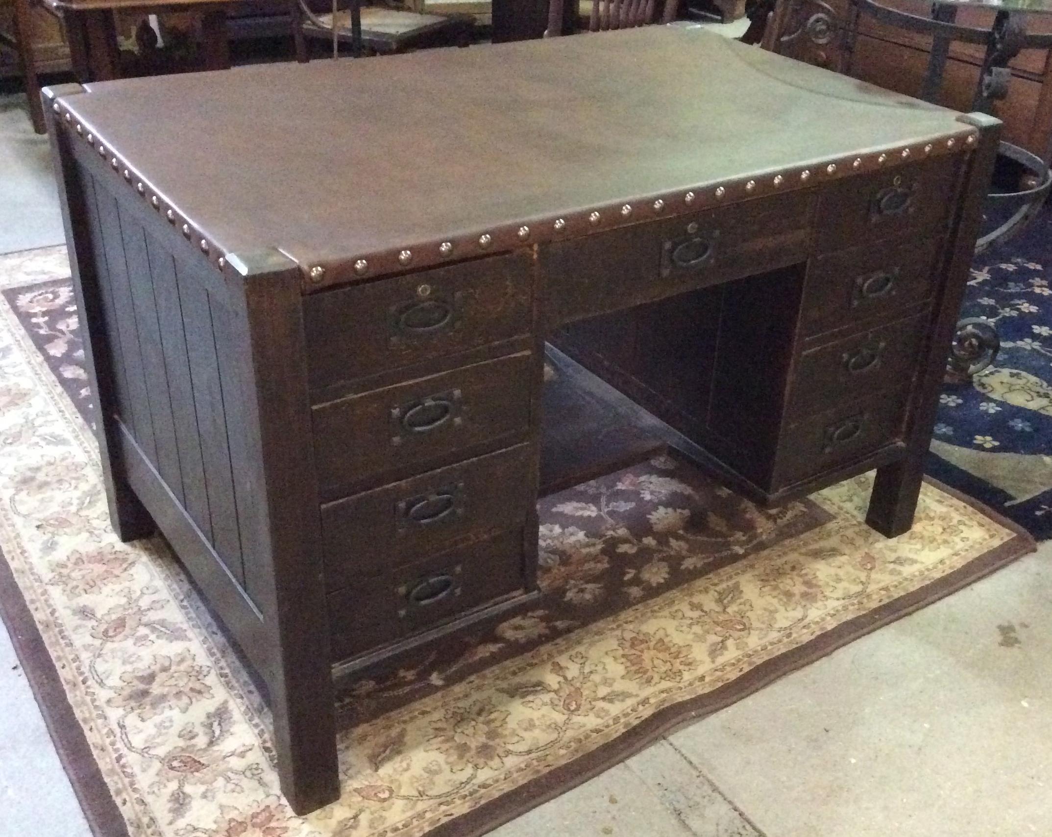 front expand to drop mission click antique stickley item full l f desk jg